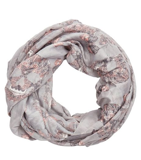 Pink Skull Butterfly Print Snood  | New Look