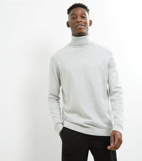 Silver Cotton Roll Neck Jumper | New Look