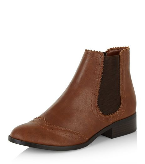 Tan Embossed Chelsea Boots  | New Look
