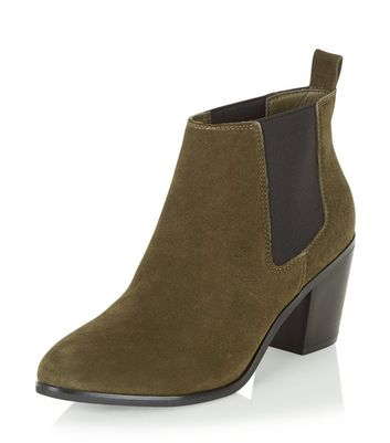 green-leather-block-heel-ankle-boots