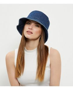 Blue Denim Bucket Hat | New Look