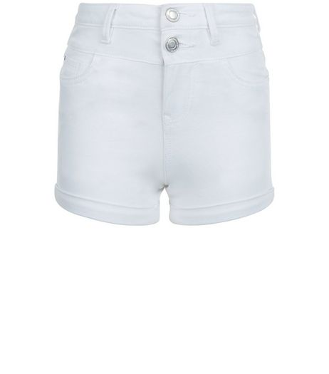 Girls White High Waisted Shorts | New Look