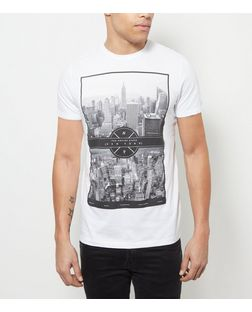 White City Print T-Shirt  | New Look