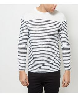 White Stripe Long Sleeve Top | New Look