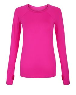 Pink Seam Back Long Sleeve Sports Top | New Look