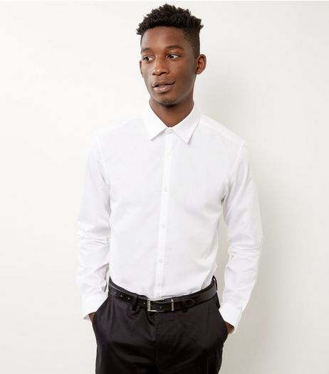 Mens White Shirts | White Shirts for Men | New Look