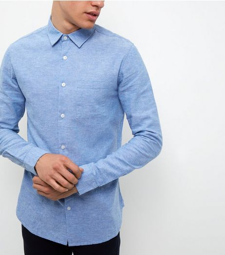 Blue Line Mix Long Sleeve Shirt | New Look