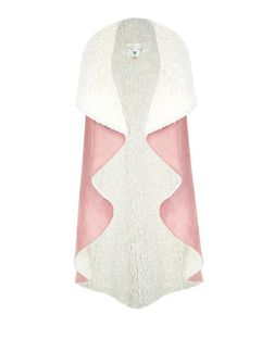 Blue Vanilla Pink Faux Shearling Sleeveless Jacket | New Look
