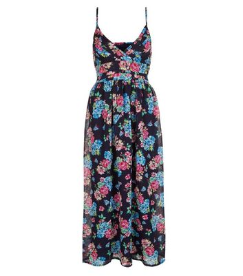 Product photo of Mela blue floral print maxi dress