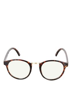 Brown Tortoiseshell Round Glasses  | New Look