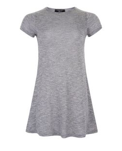 Girls Grey Fine Knit Swing Dress | New Look