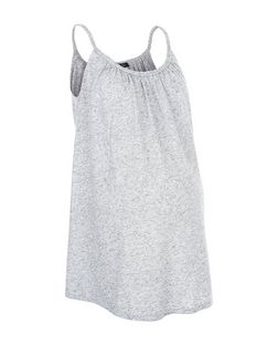 Maternity Grey Plaited Trim Vest | New Look