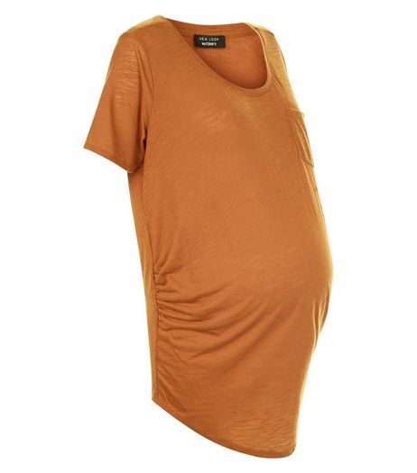 Maternity Stone Pocket Short Sleeve T-Shirt | New Look