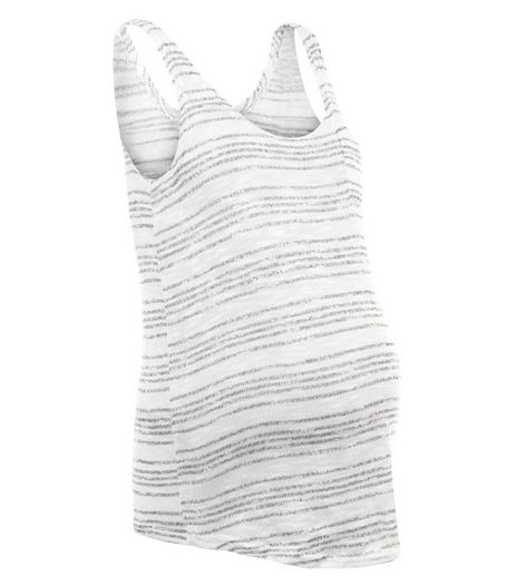 Maternity Grey Stripe Fine Knit Vest | New Look