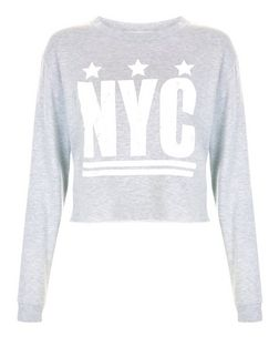 Grey NYC Cropped Sweater  | New Look