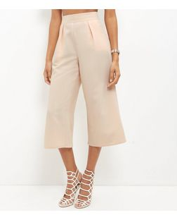 Shell Pink Crepe Culottes  | New Look
