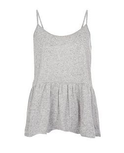 Grey Peplum Cami  | New Look