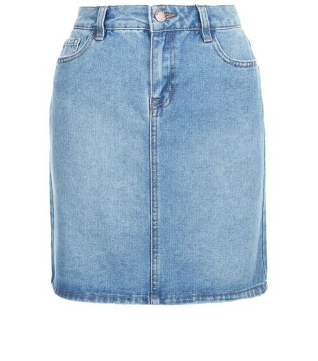 Tall Blue Denim Mini Skirt | New Look