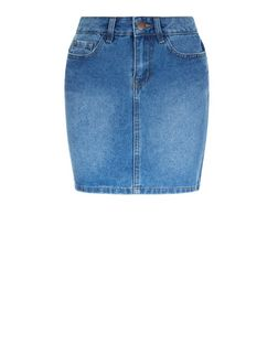 Petite Blue Denim Mini Skirt | New Look