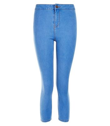 Petite Blue Cropped Skinny Jeans
