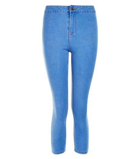 Petite Blue Cropped Skinny Jeans | New Look