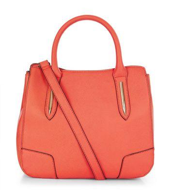 Orange Mini Structured Tote Bag