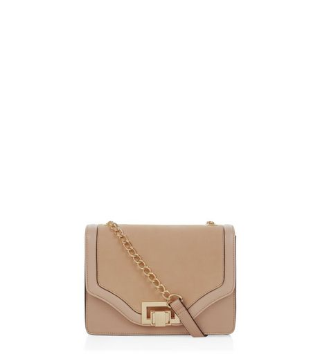Stone Chain Strap Shoulder Bag  | New Look