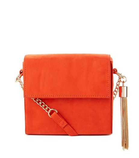 Orange Tassel Chain Shoulder Bag | New Look