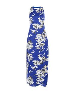 Parisian Blue Floral Print Maxi Dress | New Look