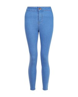 Petite 28in Light Blue High Waist Super Skinny Jeans | New Look