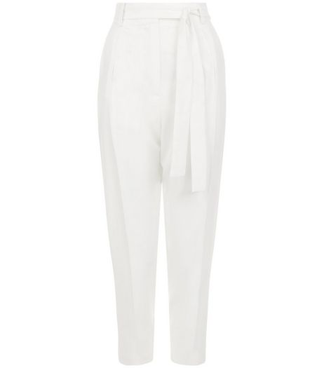 White Tie Waist Trousers  | New Look