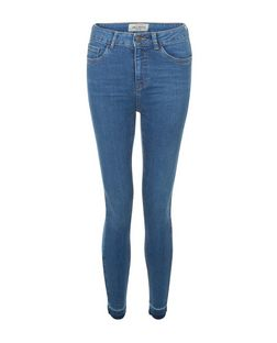 Blue Drop Hem Skinny Jeans  | New Look