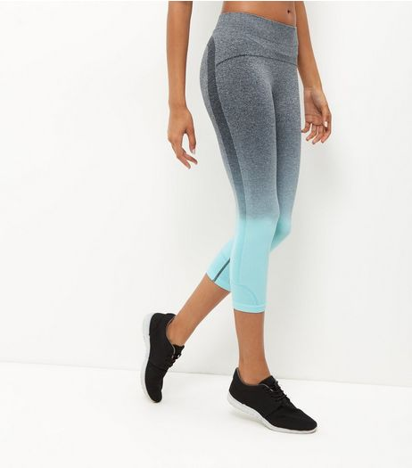 Blue Dip Dye Seamless Sports Leggings  | New Look