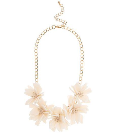 Pink 3D Flower Necklace  | New Look
