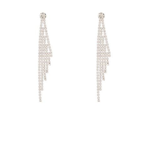 Crystal Tassel Earrings | New Look