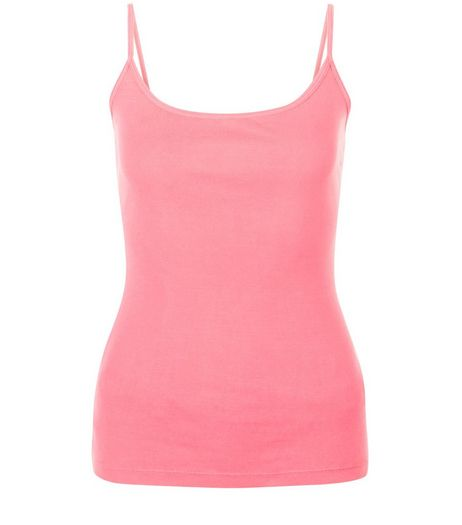 Bright Pink Scoop Neck Cami  | New Look