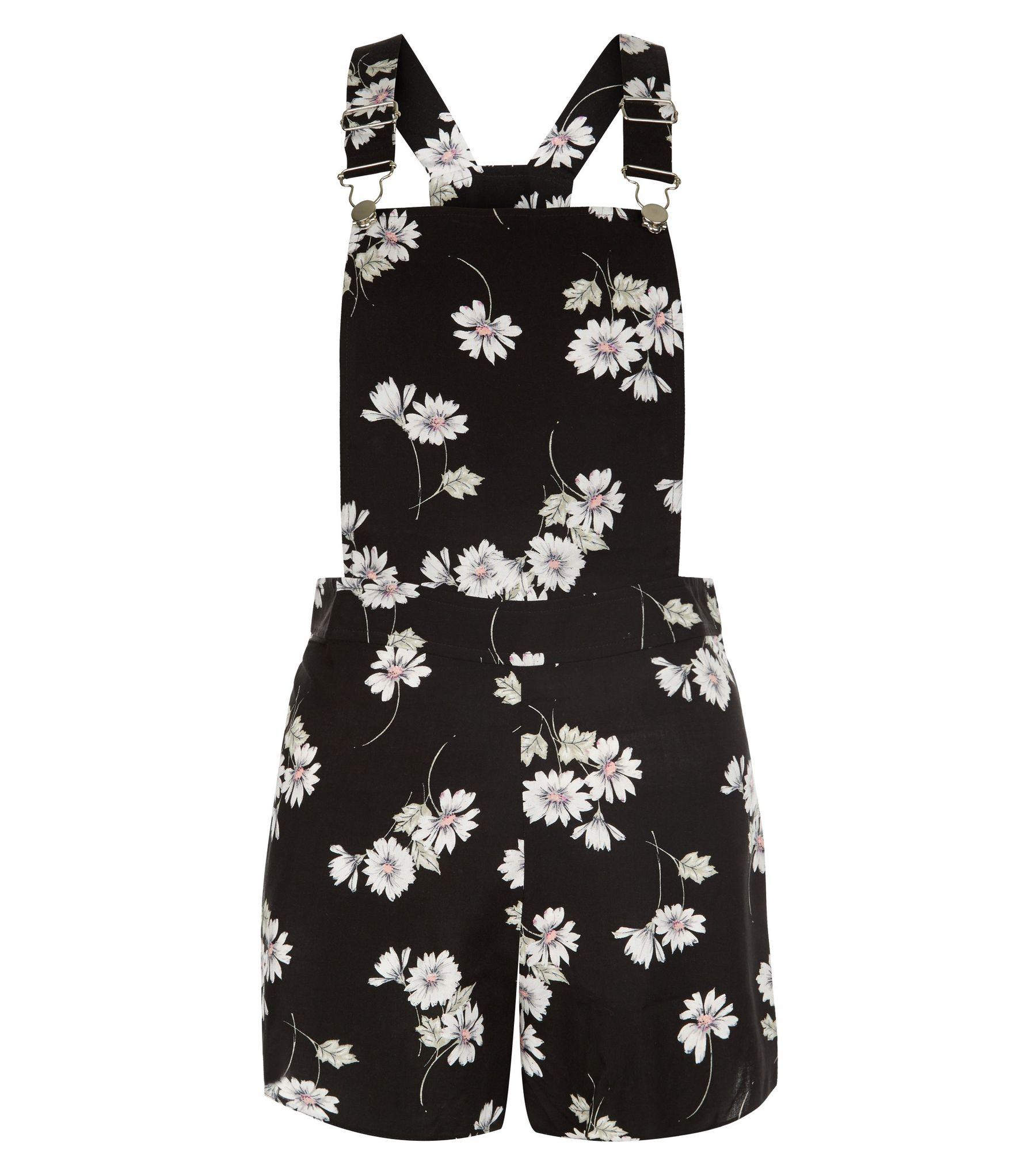 Teens Black Daisy Print Playsuit | New Look