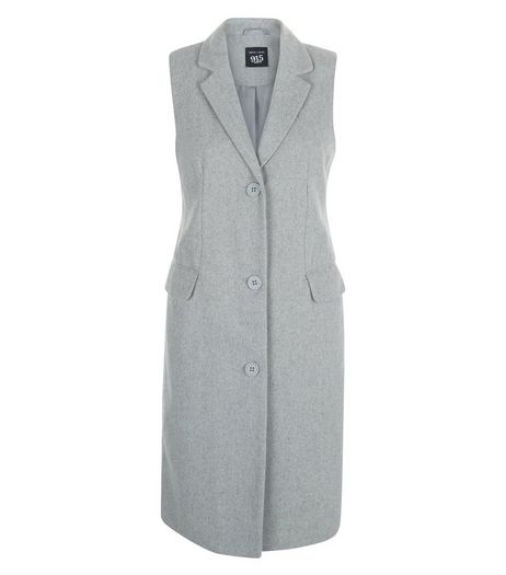 Teens Grey Sleeveless Coat  | New Look