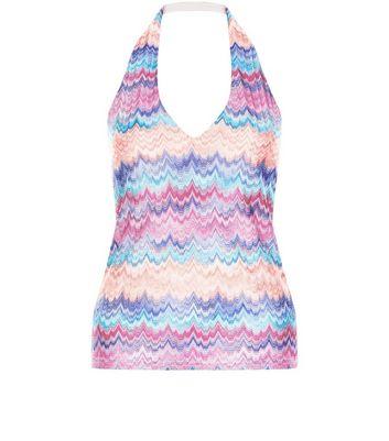 pink-zig-zag-print-halter-neck-vest