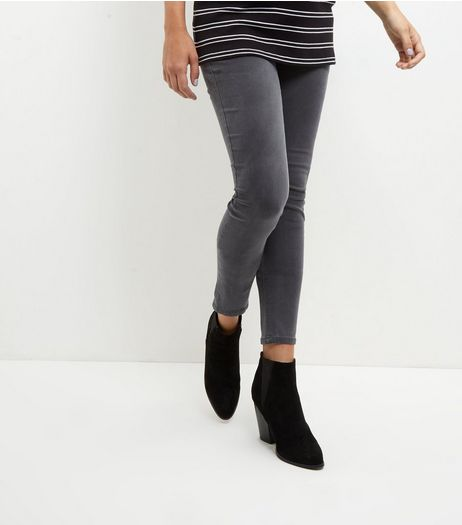 Maternity Grey Under Bump Jeggings | New Look