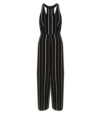 black-stripe-v-neck-wide-leg-jumpsuit