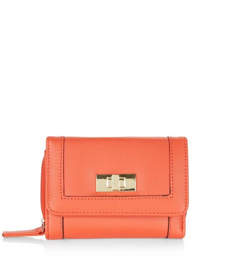 Orange Twist Lock Mini Purse  | New Look
