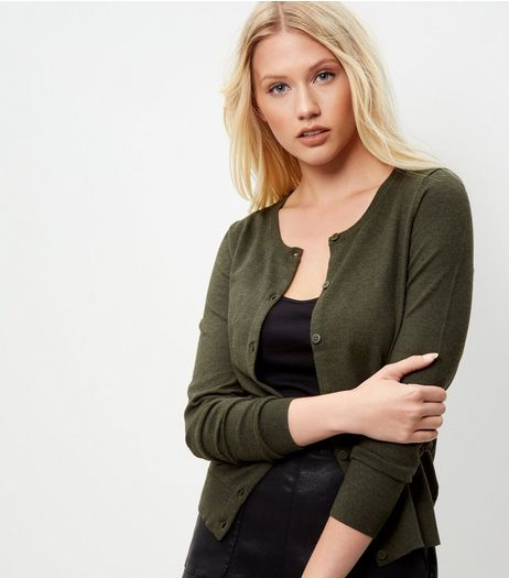 Khaki Cardigan  | New Look