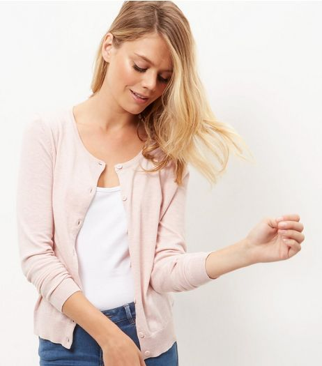 Shell Pink Cardigan  | New Look