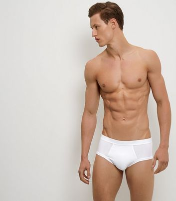 3 Pack White Grey and Black Briefs