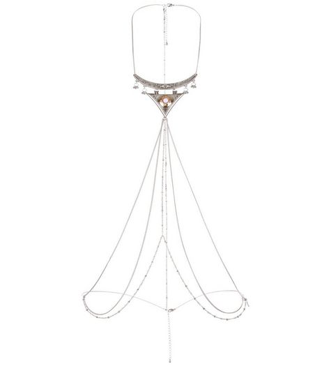 Silver Triangle Bodychain | New Look