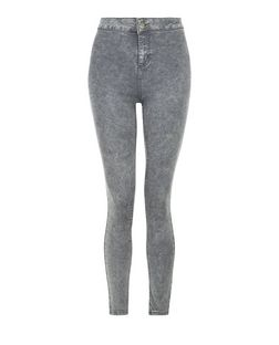 Teens Grey High Waist Super Skinny Jeans | New Look