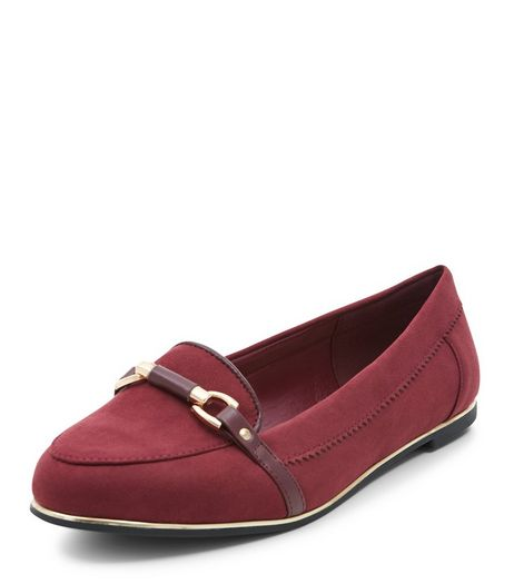 Teens Red Link Trim Loafers  | New Look