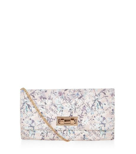 Cream Ditsy Floral Clutch  | New Look