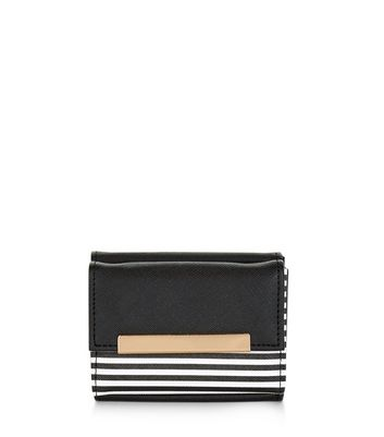 Black Stripe Panel Card Holder